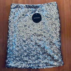 Chunky glitter skirt